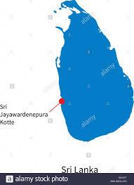 Sri Lanka On World Map by Detailed Vector Map Of Sri Lanka And Capital City Stock Vector Art