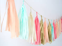 coral peach mint gold and tassel garland wedding