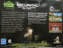 home zone security led motion light security systems costco home zone motion activated security led