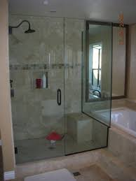 sliding shower door and tray with alternative to sliding glass