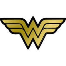 wonder woman logo gold foil sticker