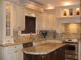 kitchen stone kitchen backsplash with white cabinets backsplash