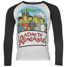 official official a day to remember raglan t shirt band merch