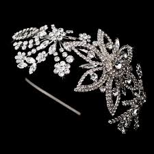 silver headband stunning swarovski headband bridal hair accessories