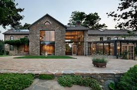 Modern Redesign Of Old Country Home With Antique Stone Walls And - Modern country home designs