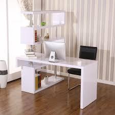 Corner Writing Desk Homcom Foldable Rotating Corner Writing Desk Reviews Wayfair