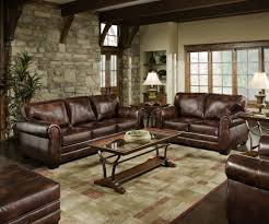 furniture stacked stone accent walls and sectional sofa set with