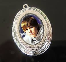 justin bieber silver plated pendant locket necklace ebay
