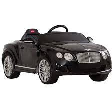 bentley black convertible licensed bentley continental gt 12v black electric ride on car