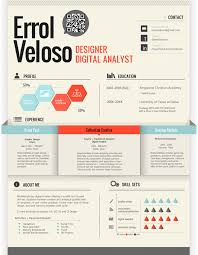 Sample Graphic Designer Resume by 50 Awesome Resume Designs That Will Bag The Job Hongkiat