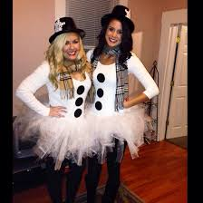 homemade snowman costume perfect for a halloween or holiday party