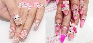 nail u2014 15 best hello kitty 3d nail art designs ideas