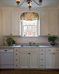 Valance Ideas For Kitchen Windows Window Valance In Kitchen Traditional With Curtain Design Next To