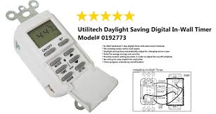 automatic light switch timer no wiring utilitech daylight saving digital in wall timer model 0192773