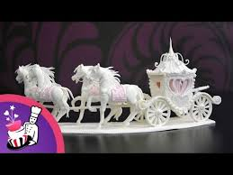 tutorial how to make a sugar horse and carriage centerpiece youtube