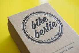 Bicycle Business Cards Little Peach Bike Bestie Letterpress