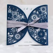 Navy Blue Wedding Invitations Foil Gold Polka Dots And Navy Blue Wedding Invitation Ewfi024 As