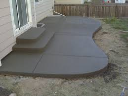 Outdoor Concrete Patio Designs Back Patio Regular With Design Back Yard Pinterest