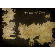 Map Of Essos Game Of Thrones Westeros And Essos Antique Map 85 X 120cm Canvas