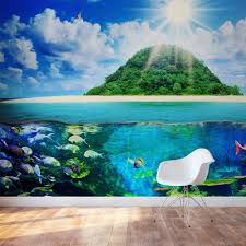 the sea wallpaper mural under the sea peel and stick wall mural
