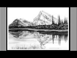 pencil drawing landscape youtube