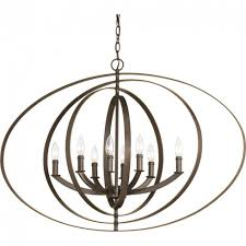 progress lighting equinox collection 8 light antique bronze orb within 8 light orb chandelier