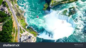 Niagara Falls Canada Map by Niagara Falls Aerial View Helicopter Canadian Stock Photo