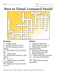 theteacherscorner net crossword maker answers u0026 activity one