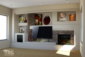 Designing A Custom Home Custom Drywall Entertainment Centers 3d Design Rendering Of A