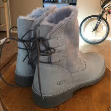 ugg s jillian boots 68 ugg shoes nwot grey lace up uggs from jillian s closet