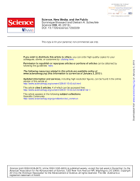 science new media and the public
