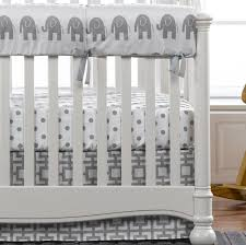 liz u0026 roo gray elephant 4 piece crib bedding set with gigi skirt
