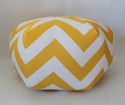 Ottoman Pillow Ottoman Pouf Floor Pillow Yellow Chevron Aftcra