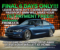 bmw payment lease a bmw 3 series and passport bmw will your 1st payment