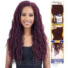 twisted hair for chrochet freetress synthetic hair crochet braids wavy senegalese twist 18