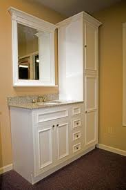 bathroom vanity with tower cabinet tags linen cabinet for