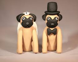 modern style dog wedding cake toppers with dog cake toppers for