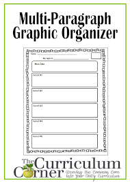 steps in writing a research paper graphic organizer for multi paragraph research papers the multi paragraph graphic organizer for students free the curriculum corner