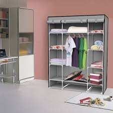 amazon com ids portable clothes storage closet with shelves 53