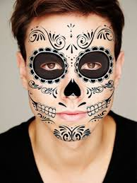 sugar skull all black temporary for the by tattoomint