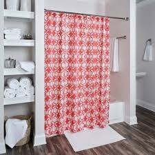 Geometric Orange Curtains Buy Geometric Shower Curtains From Bed Bath U0026 Beyond