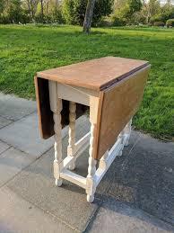 Vintage Drop Leafgate Leg Diningkitchen Table Rustic Distressed - Gateleg kitchen table