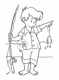 little fisherman coloring page for kids seasons coloring pages
