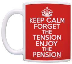 coffee mug retirement gifts keep calm forget tension pension retiree coffee