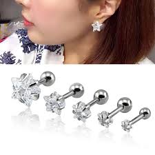 cartilage earing aliexpress buy 1 pair 3 8mm cartilage earring zircon