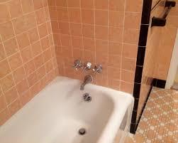 vintage 1937 peach bathroom in my home all original tile my