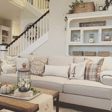 natural warm nuance of the farmhouse living room furniture