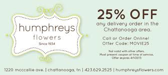 flower coupons humphreys flowers coupon located in chattanooga tn retail