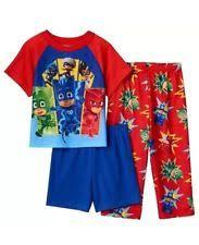 pj masks sz 4 pajamas shirt u0026 shorts pjs boys catboy owlette gekko