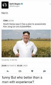 Seth Rogen Meme - seth rogen not it cnn south korea says it has a plan to assassinate